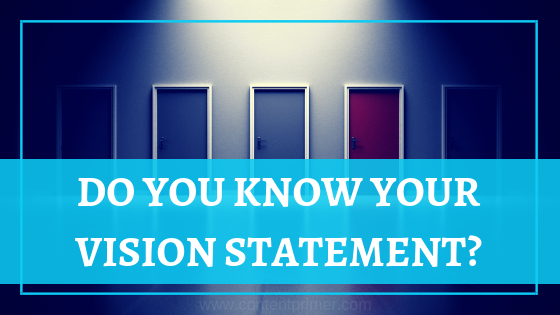 How to write your vision statement
